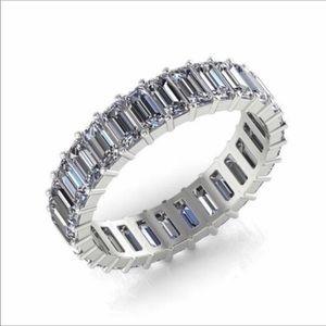 Jewelry - 14k white gold eternity band lab diamond silver